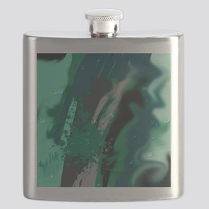 wet paint green Flask