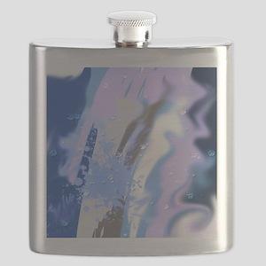 wet paint blue Flask