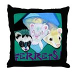 Ferrets! Throw Pillow