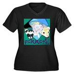 Ferrets! Women's Plus Size V-Neck Dark T-Shirt