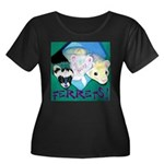 Ferrets! Women's Plus Size Scoop Neck Dark T-Shirt
