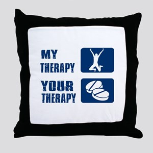long jump is my superpower Throw Pillow