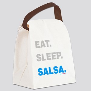 Eat Sleep Salsa Canvas Lunch Bag