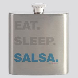 Eat Sleep Salsa Flask