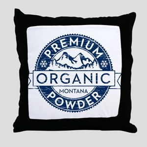 Montana Powder Throw Pillow