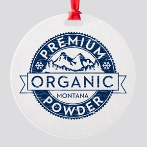Montana Powder Round Ornament