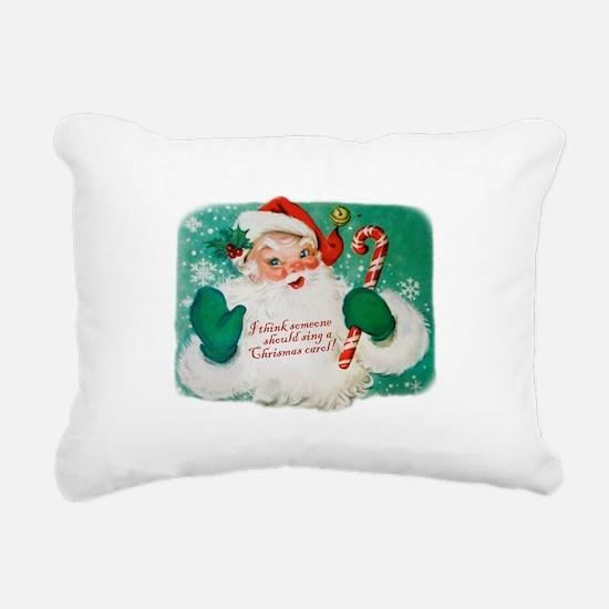 Vintage Santa Rectangular Canvas Pillow