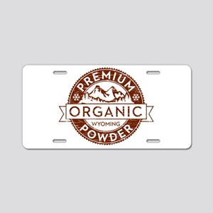 Wyoming Powder Aluminum License Plate