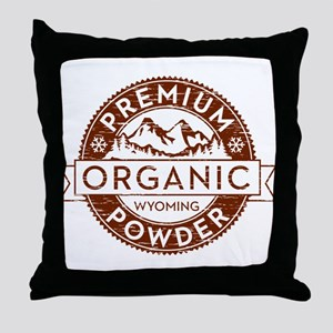 Wyoming Powder Throw Pillow