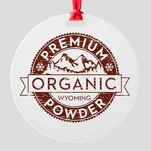 Wyoming Powder Round Ornament