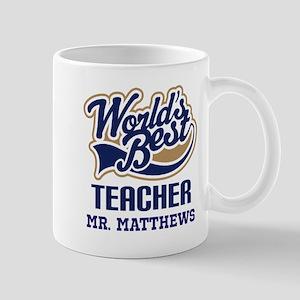 Personalized Teacher (Worlds Best) Mugs