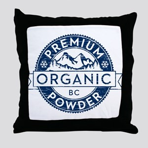 BC Powder Throw Pillow