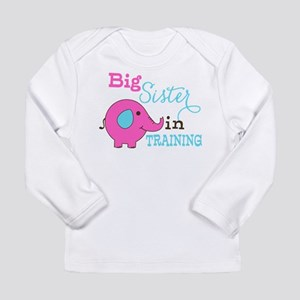 Big Sister in Training Elephant Long Sleeve T-Shir