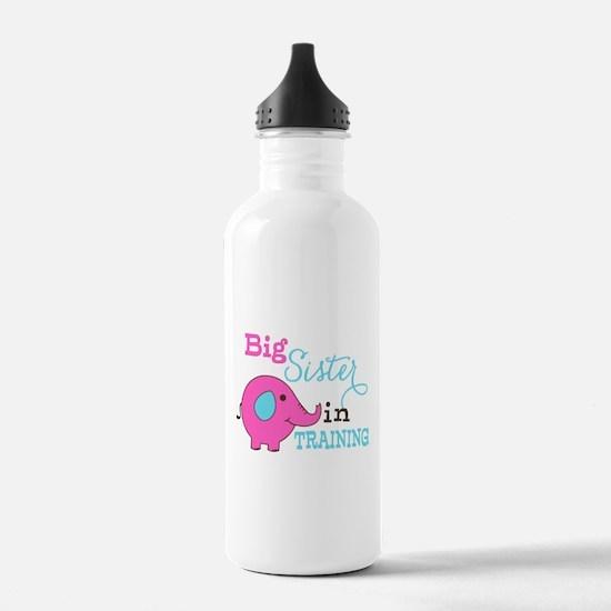 Big Sister in Training Elephant Water Bottle