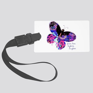 Peace Butterfly Luggage Tag
