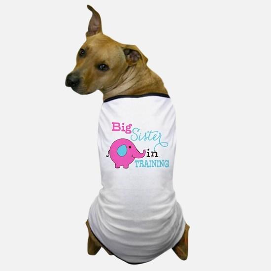 Big Sister in Training Elephant Dog T-Shirt
