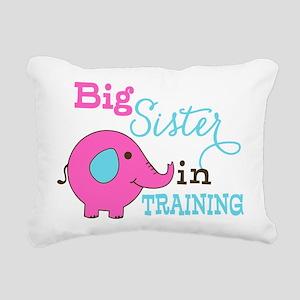 Big Sister in Training Elephant Rectangular Canvas
