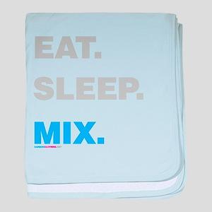 Eat Sleep Mix baby blanket