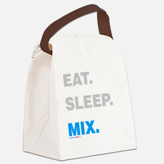 Eat Sleep Mix Canvas Lunch Bag