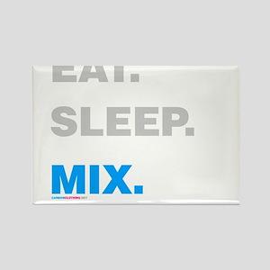 Eat Sleep Mix Rectangle Magnet