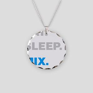 Eat Sleep Mix Necklace Circle Charm