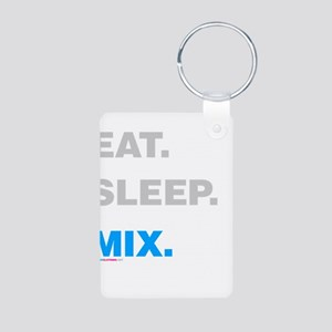 Eat Sleep Mix Aluminum Photo Keychain
