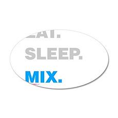 Eat Sleep Mix Wall Decal
