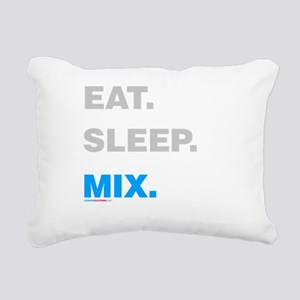 Eat Sleep Mix Rectangular Canvas Pillow
