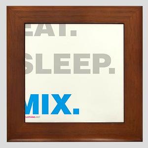 Eat Sleep Mix Framed Tile