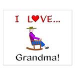 I Love Grandma Small Poster