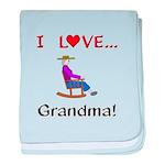 I Love Grandma baby blanket