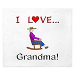 I Love Grandma King Duvet