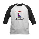 I Love Grandma Kids Baseball Jersey
