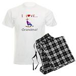 I Love Grandma Men's Light Pajamas