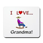 I Love Grandma Mousepad