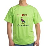 I Love Grandma Green T-Shirt