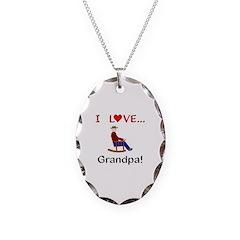 I Love Grandpa Necklace