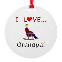 I Love Grandpa Ornament