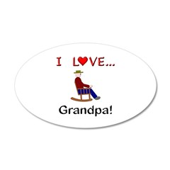 I Love Grandpa Wall Decal