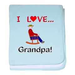 I Love Grandpa baby blanket
