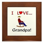 I Love Grandpa Framed Tile