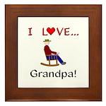 I Love Grandpa Framed Tile