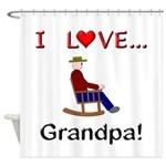 I Love Grandpa Shower Curtain