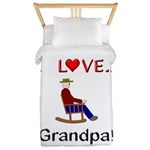 I Love Grandpa Twin Duvet