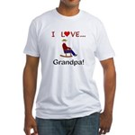 I Love Grandpa Fitted T-Shirt