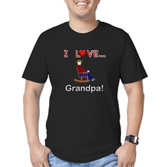 I Love Grandpa Men's Fitted T-Shirt (dark)