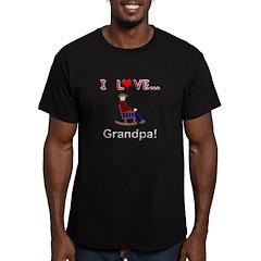 I Love Grandpa Men's Fitted T-Shirt (dark)