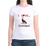 I Love Grandpa Jr. Ringer T-Shirt