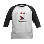 I Love Grandpa Kids Baseball Jersey