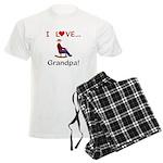 I Love Grandpa Men's Light Pajamas